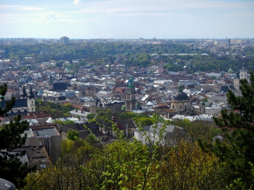Lviv is a big city - looking down from Castle hill