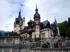 Peles Castle - built between 1873 and 1914. It has the most amazing and intricate wood work inside