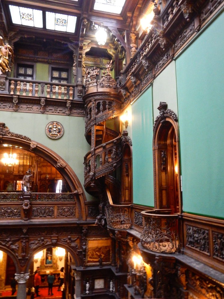 Intricate wood work in Peles Castle - built between 1873 and 1914.