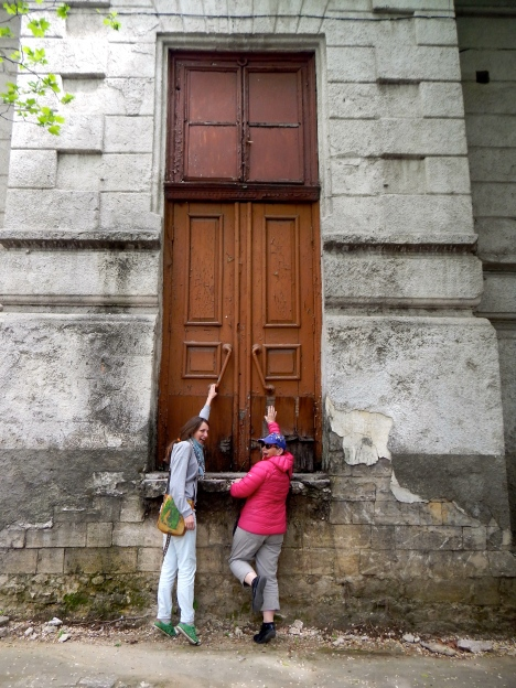 Is that a big door, or are we very short - Chisenau - Capital of Moldova