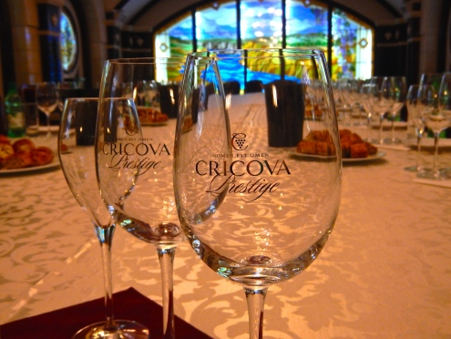 Wine tasting at Cricova - an underground winery just near Chisinau - Moldova's capital city