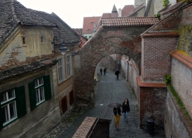 A lovely old street in - Bucharest - Capital of Romania