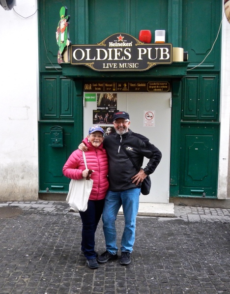 'Oldies Pub in Bucharest' -- they must have known we were coming!!