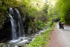 A lovely waterfall along the way in Romania
