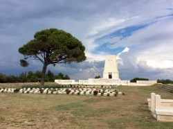 Lone Pine cemetery - so calm and beautiful today..'Lest we forget'...