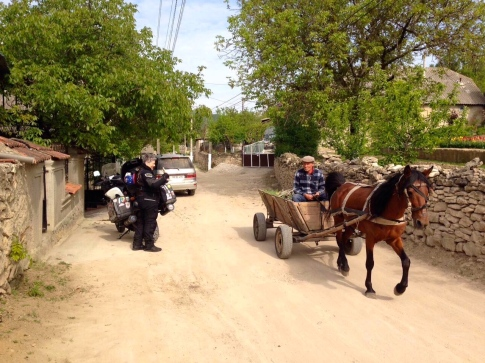 Just lovely - horse and cart driving past - our first night's accommodation in a small village in Moldova