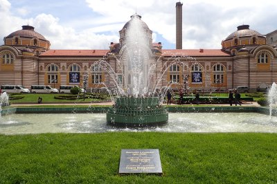 Lovely fountain in front of the museum in Sofia