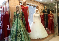 The Turkish bridal shops were just beautiful