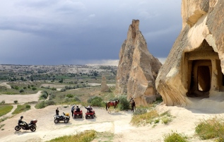 People come to visit Rose valley and the Fairy chimneys and caves on all kinds of transport.