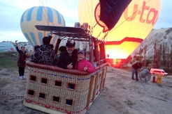 Getting ready for lift off in the hot air balloon