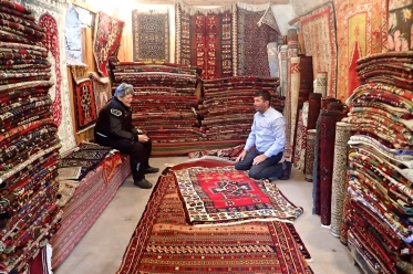 Another Turkish rug seller near one of the bigger underground cities