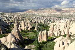 Beginning in the 4th century A.D, these Cave dwellings near Goreme in the Cappadocia region were carved in the solid rock by monks. There are also whole cities that go down many levels in the rock and underground. Many are still being found / explored today