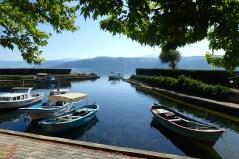 Early morning in the very calm harbour of Lake Egirdir Gölü
