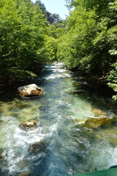 One of many beautiful cool, clear rivers in Turkey in the Kodova Gölü National Park
