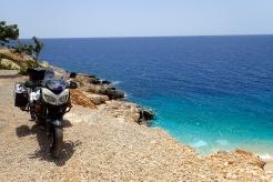 The aqua blue Mediterranean sea on Turkey's south coast