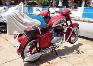 A 'red'... golden oldie - Jawa motorbike
