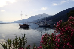 A cool and tranquil harbour after a hot day in Fethiye