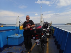 Yet another ferry ride... #11 - across the straight to Gallipoli - we never tire of the ferry rides