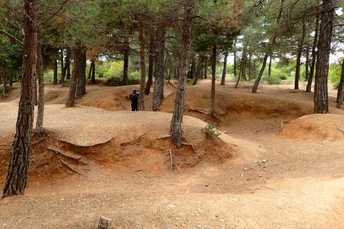 To be able to walk through these trenches at Gallipoli gave us goosebumps. It was very moving indeed.