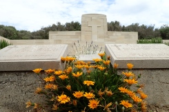 V Beach Cemetery - a British cemetery at Cape Helles