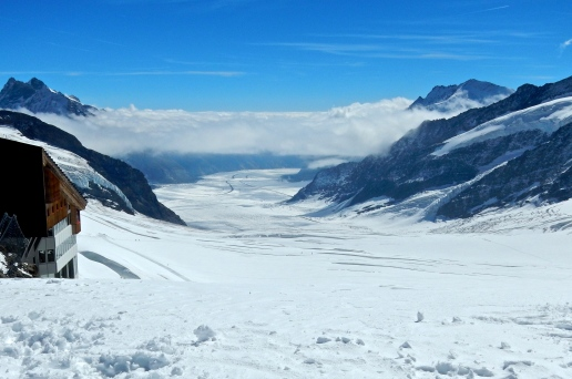 What a view, the beginning of one of many glaciers