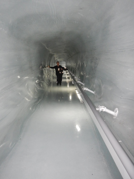Cold walls Inside the Ice Palace on Jungfraujoch