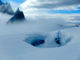 Looking towards Jungfraujoch - Top of Europe, it has the highest railway station in Europe, 3,454 metres above sea level.