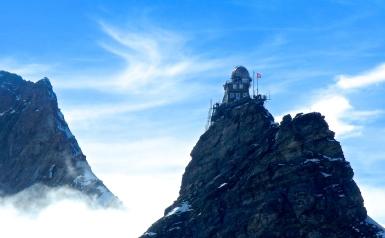 Looking back towards Jungfraujoch The James Bond film - On Her Majesty's Secret Service was set here