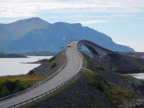 Section of the Atlantic Way - Norway's west coast - a most impressive bridge