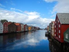 Stunning waterways in Bergin , Norway. We were lucky to have no rain!