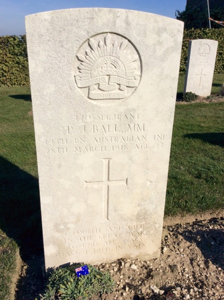 "The words on this headstone are so very poignant. ""I fought and died in the great war to end all wars. Have I died in vain"""
