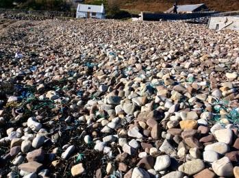 Scotland - there is so much plastic washed up on many beaches in Europe