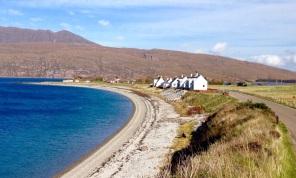 A lovely white sandy Scottish beach