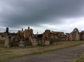 France, Oradour-sur-Glane: the grey skies a stark contrast