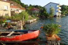 Beautiful village of Lin on Lake Ohrid in Albania