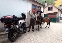 Kosovo - Village of Brod - this guy wanted to take John for a ride over the mountains
