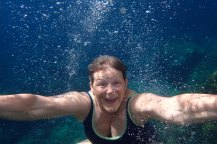 testing the underwater camera at Dubrovnik