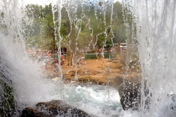 Bosnia - water falls near Medugoje - waterfall from the inside