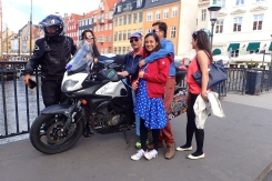 Copenhagen - the bike always attracts many people who are keen to sit on it