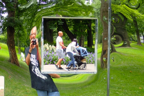 Copenhagen gardens - funky mirrors