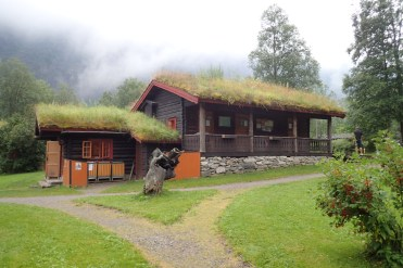 Norway - grass roofed huts for insulation but hard to mow..