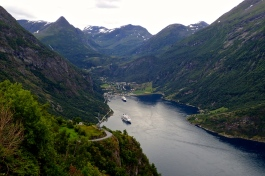 One of Norway's many magnificent Fjords. looking down over Geiranger