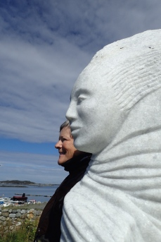 Norway - beautiful statue of fisherman's wife looking out to sea, waiting for his return