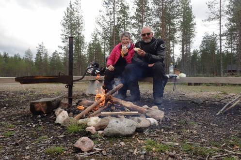 Finland - a nice campfire to have lunch by
