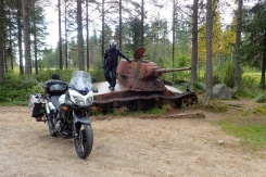 Finland - The Raate road - site of the 105 day winter war in 1939