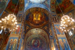 Inside the magnificent Church of the Spilled Blood in St Petersburg