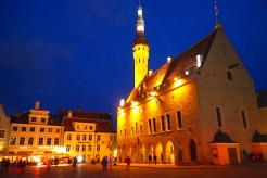 Tallinn Old town was beautiful by night