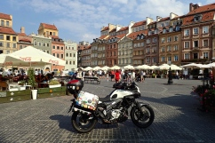 Warsaw - we took the bike right into the Old town square!