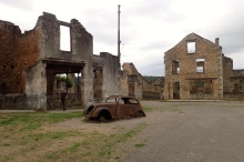 France, Oradour-sur-Glane; Charles de Gaulle ordered this village to be left as is after the Nazis massacred 642 villagers, only 6 survived. they then ransacked, blew up and burned the village