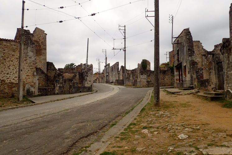 France, Oradour-sur-Glane: main street